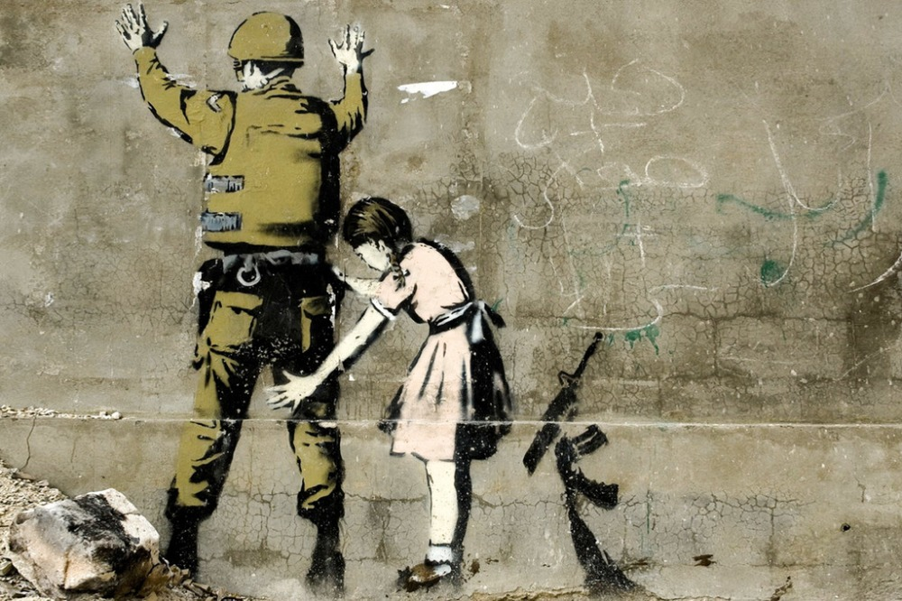 Banksy Girl and Soldier